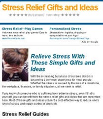 stress relief gifts and ideas lens